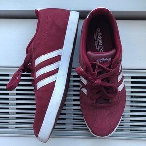 adidas Burgundy Suede Sneakers